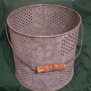 Vintage Galvanized minnow Bucket